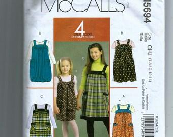 McCall's  Girls' Jumper Pattern 5694