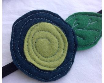 30%OFF SUPER SALE- The Little Garden Bloom- Felt Headband-Brooch
