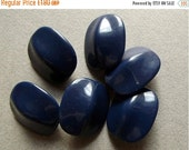 On Sale Vintage large glossy navy beads