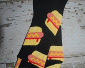 hot dogs, newborn leg warmers, baby legwarmers, newborn boy, girl leggings, camping, picnic, ketchup and mustard, quirky baby clothes, funny