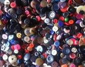 2000 Vintage Sewing Shirt Buttons Lot Mix Assortment Crafts Art Supply Hole White Colors Mop Plastic Wood