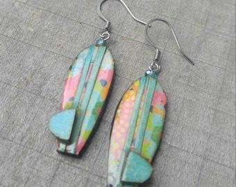 wearables...earrings...surfboard dangles