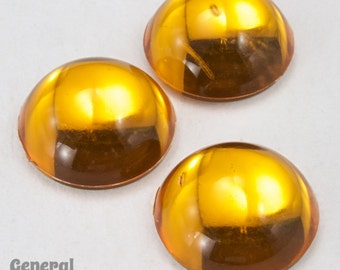 11mm Smooth Round Topaz Cabochon (10 Pieces) #3904
