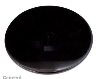65mm Opaque Black Circle Blank (2 Pcs) #3999
