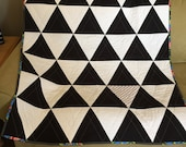 Modern Black and White Triangle baby quilt