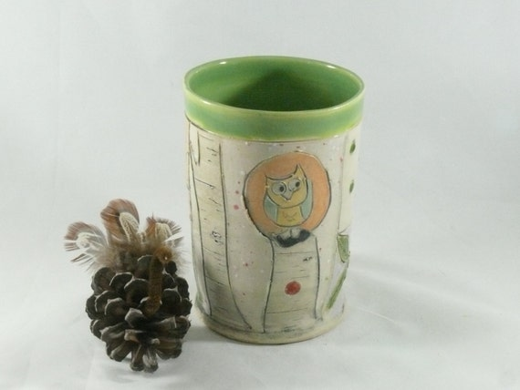 Pottery Vase, Ceramic Cup, Teacup, Water Glass, Coffee or Tea Cup, pottery and ceramics, Pencil Holder Ceramic Cup, Toothbrush Holder 547
