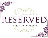 Reserved for sarahgartman