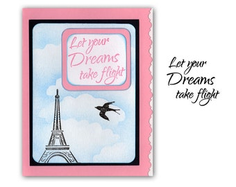 Let your dreams take flight - UNMOUNTED rubber stamp #23