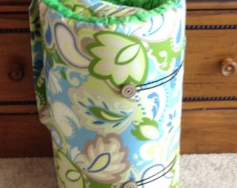 Plush Nap Mat for Preschool Toddler Back to School Mat Green and Blue READY TO SHIP