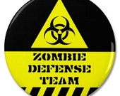 "Zombie Defense Team 2.25"" Pinback Pin Button Badge"