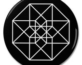 "Tesseract Geometry 2.25"" Pinback Pin Button Badge"