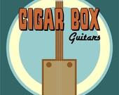 Cigar Box Guitars Design Pop Art Print