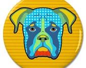 """Boxer Dog Pop Art 2.25"""" Pinback Pin Button Badge"""