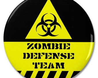 "Zombie Defense Team 2.25"" Pinback Pin Button Badge"
