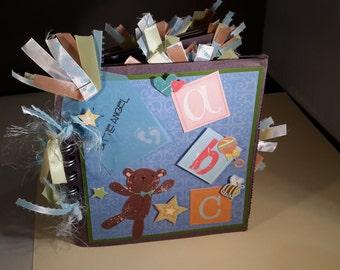 Premade Baby Boy Paperbag Album
