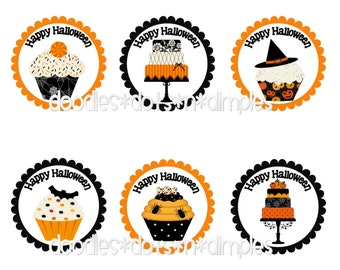 Personalized  Halloween Treat Bag Tags