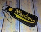 Steelers Key Fob with Swoosh