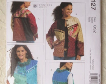 McCalls M5127 Crafts Color Block Jacket Coat Vest Size Sewing Pattern Women All Sizes Out of Print