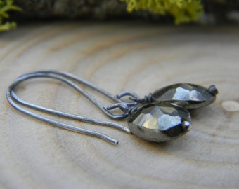 petite pyrite earrings