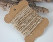 Small Tea Brown Natural Dye Textured Thread Pack