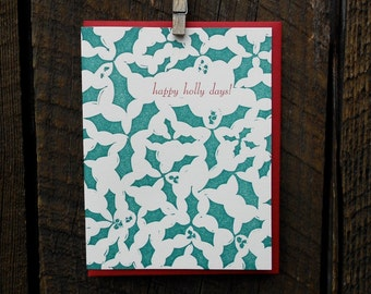 Happy Holly Days Holiday Cards