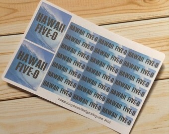 ON SALE Hawaii Five-O Stickers for Erin Condren (Id402)
