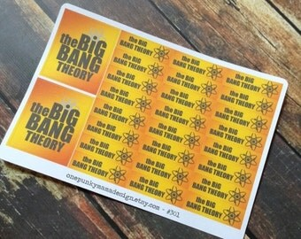 ON SALE Big Bang Theory Stickers for Erin Condren (ID301)