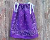 Purple Paisley Toddler Dress or Girl's Tunic Top ONE SIZE Fits All from 18 months to girl's 10