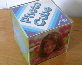 vintage plastic photo cube