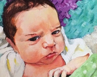 custom portrait-one subject-acrylic on canvas