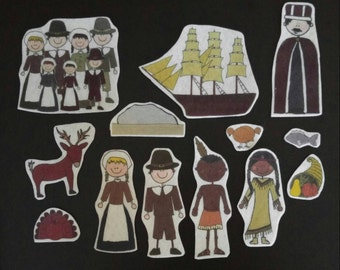 First Thanksgiving Flannel Board Stories Felt Set with Story Card