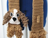 Cocker Spaniel Dog Scarf Crochet Pattern