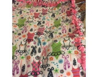 Baby Toddler Girl Tutu Ballet Shoes Double Fleece Blanket