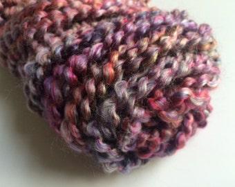 partial skein of Lion Brand Homespun yarn destash