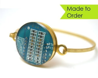 Circuit Board Bracelet MADE TO ORDER Choose Your Color