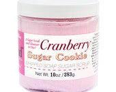NEW - Cranberry Sugar Cookie Whipped Soap Sugar Scrub - Cruelty Free and Vegan