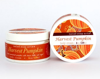 Harvest Pumpkin Limited Edition Shea Butter Body Cream - Vegan - anti-oxidant rich - 4oz jar
