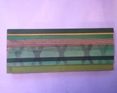 Landscape Stripes Painting on Reclaimed Wood XXX