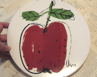 Vera for Mikasa VINTAGE Apple Plate with Hanger