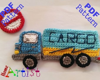 Cargo Truck Crochet Applique Pattern