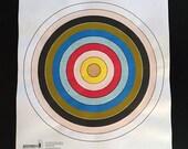 Golden - Hand Painted Paper Shooting Target Art