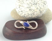 Double Sided Lapis Sterling Silver S Hook, Tibetan Finding, Lapis S Hook, 1 inch S Hook, Lapis Beads, Native American