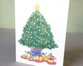 Cards - Christmas Tree, set of 4