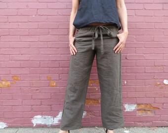 Organic Linen Drawstring Pants
