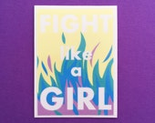 Fight Like A Girl Vinyl Sticker