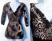 Purple Jungle Wrap Sweater XS-M