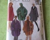 Vintage 90s McCalls 9087 Misses Unlined Capes Sewing Pattern Size XSm Sm Med UNCUT