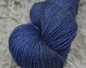 NEW Hand Dyed Merino Superwash Bamboo Nylon Sock Yarn - Squish by Yarn Hollow Cobalt Semi Solid