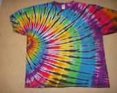 4X tie dye tshirt rainbow side swirl, XXXXL
