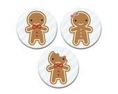 Cookie Cute - Kawaii Gingerbread Badge Set